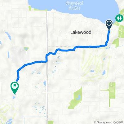 Riverside Dr, Crystal Lake to 7777 Farrell Dr, Lakewood