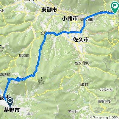 茅野駅から霧ケ峰・白樺湖・蓼科経由軽井沢駅まで