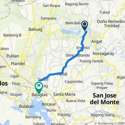Unnamed Road, Angat to Milagrosa, Balagtas
