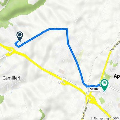 Da Via Monte San Gottardo 7, Camilleri-Vallelata a Via Aldo Moro 98/E, Aprilia