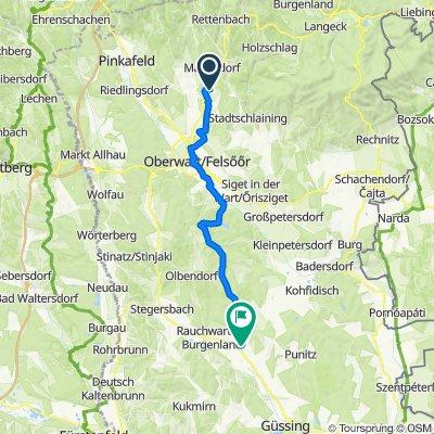 Königsberger Allee 36, Bad Tatzmannsdorf nach Hauptplatz 15, St. Michael im Burgenland