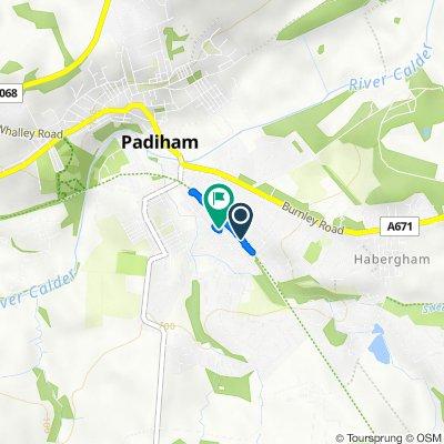 Cardwell St, Padiham, Burnley to 103 Stockbridge Road, Burnley