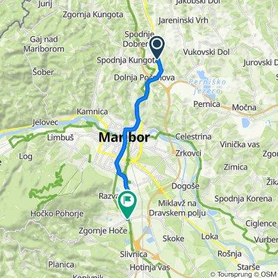 EV9 - trasa skozi Maribor