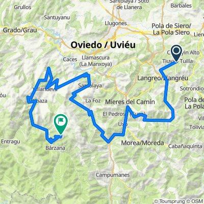 Tuilla-Ermita de Alba. 4500m en 132km