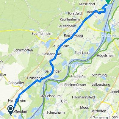 Itinéraire à partir de D468, Gambsheim