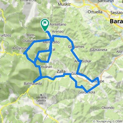 Jarralta - Bezi - Balmaseda - San Kosme - Sodupe - Umaran - Avellaneda - Bezi - Artzentales - Jarralta