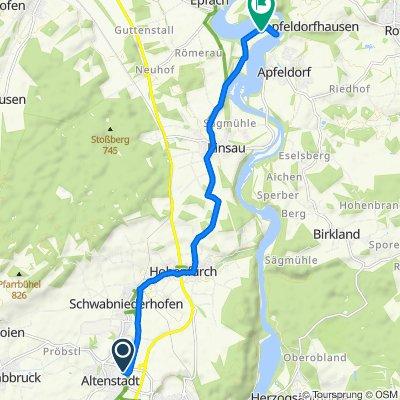 Templerstraße 17, Altenstadt nach Forchau 12, Denklingen