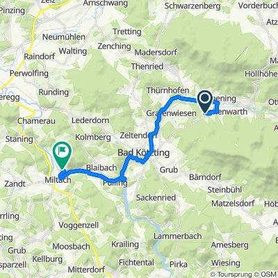 Gotzendorf 25, Hohenwarth nach Schönprunnstraße 25, Miltach