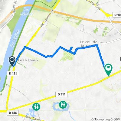 Itinéraire vers Rue de la Voie Poissonnière, Chatou