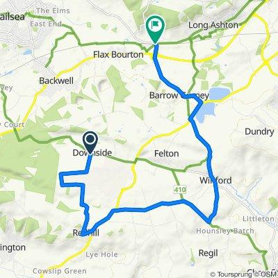 Homeleigh, Downside Road, Bristol to Batch Cottage, Weston Road, Bristol