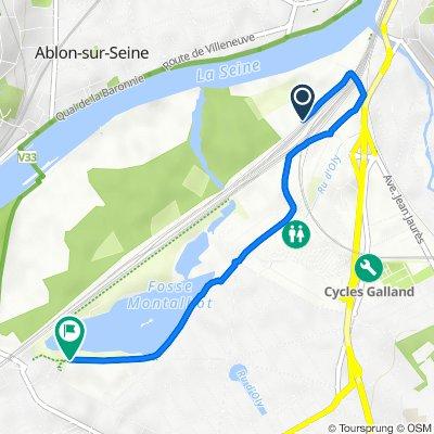 De Chemin Latéral Nord au Chemin de Fer, Vigneux-sur-Seine à Rue de la Station, Vigneux-sur-Seine
