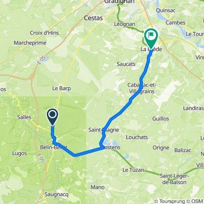 De 104 Route de Bordeaux, Belin-Béliet à D108, La Brède