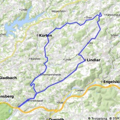 Untereschbach-Lindlar-Kürten-Untereschbach