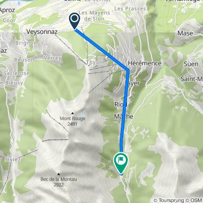 De Route des Mayens de l'Ours, Les Agettes à Route du Barrage 7, Hérémence