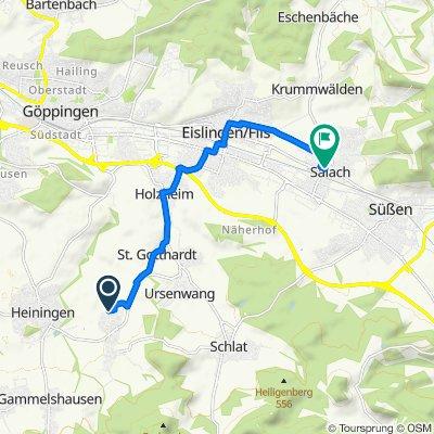 Lindenstraße 19, Eschenbach nach K1404 60, Salach