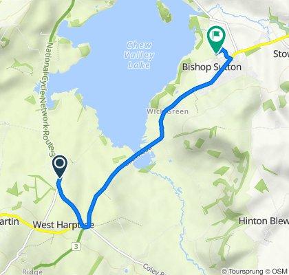 Bristol Road, West Harptree, Bristol to 1 Stitchings Shord Lane, Bishop Sutton, Bristol