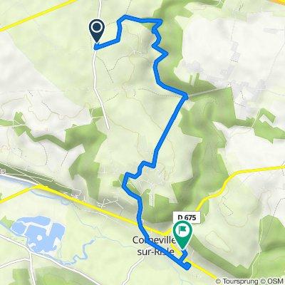 De 97 Route de la Croisée, Fourmetot à 42 Résidence de l'Abbaye, Corneville-sur-Risle