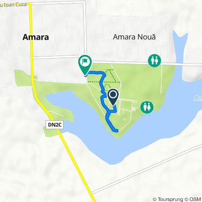 Route to Strada Libertății 1B, Amara