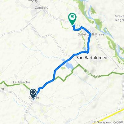 Da Via Valdrigo 3–7, Cavriè a Vicolo Molinetto 27, Saletto-San Bartolomeo