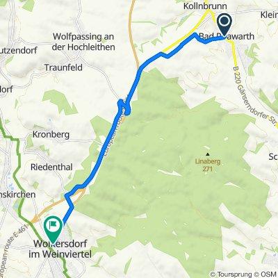 Professor-Knesl-Platz 12, Bad Pirawarth nach Julius-Bittner-Platz 7, Wolkersdorf im Weinviertel
