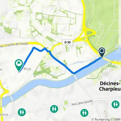 De N346, Décines-Charpieu à 13 Avenue Karl Marx, Vaulx-en-Velin