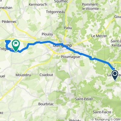 Itinéraire à partir de D4, Lanrodec