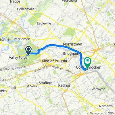 Route to 400 Fayette St, Conshohocken