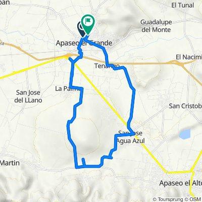 De Calle Narciso Mendoza 101, Apaseo el Grande a Calle Río Colorado 110, Apaseo el Grande