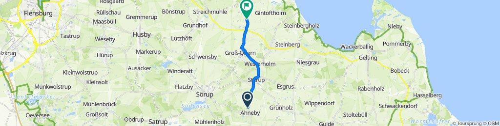 Dorfstraße 9, Ahneby nach Kalleby 5, Steinbergkirche