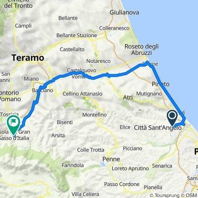 Da Via Giuseppe Di Vittorio 36/A, Casette a Viale Duca degli Abruzzi 17, Isola del Gran Sasso d'Italia