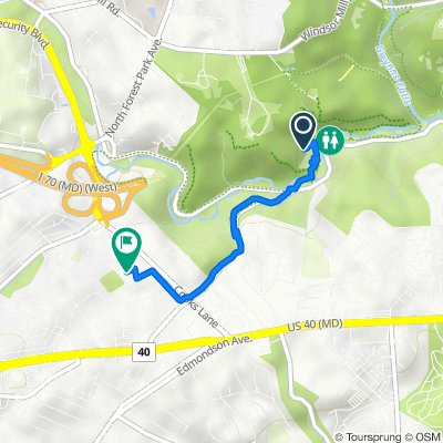 North Franklintown Road 4700, Baltimore to Stamford Road 1003, Baltimore