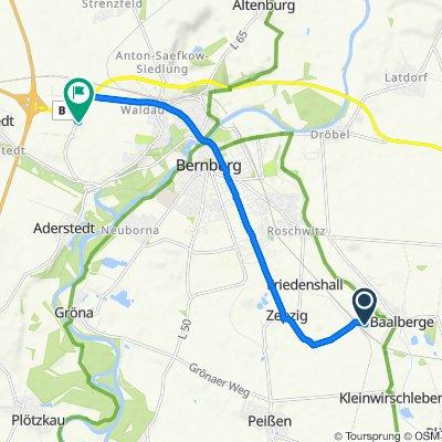Kolonie 23, Bernburg (Saale) nach Weststraße 1, Bernburg (Saale)