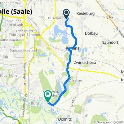 Schulgartenweg, Halle (Saale) nach Regensburger Straße 68, Halle (Saale)