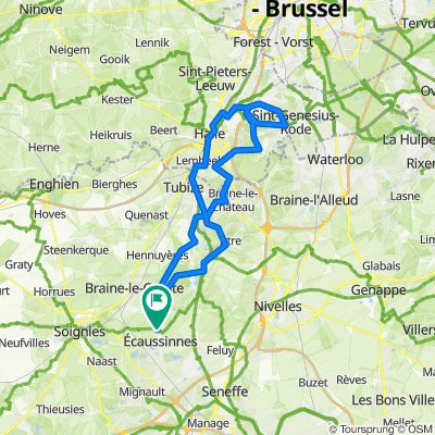 Omgeving Ronquieres 74km 1020hm
