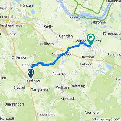 Thieshoper Brink 2, Brackel nach Humboldtweg 6, Winsen (Luhe)
