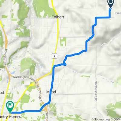 Route to 538 E Hawthorne Rd, Spokane
