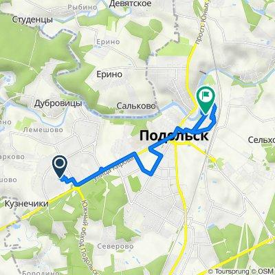 От улица Генерала Варенникова, 2, Подольск до Рабочая улица, 5В, Подольск