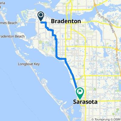 6904 Manatee Ave W, Bradenton to 513 Central Ave, Sarasota