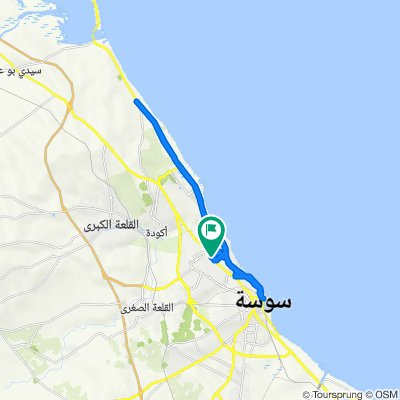 De P1 Route de tunis, Hammam Sousse à P1 Route de tunis, Hammam Sousse