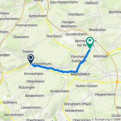 Hauptstraße 18B, Albisheim (Pfrimm) nach Am Graben 8, Gundheim