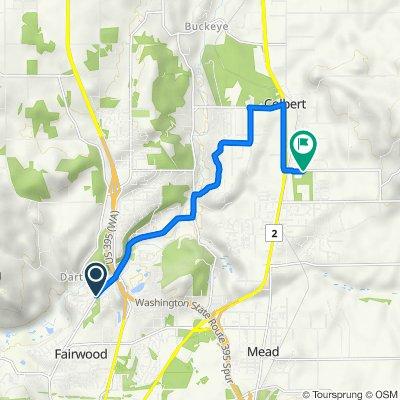 13523–13575 N Mill Rd, Spokane to 4854–4888 E Green Bluff Rd, Colbert