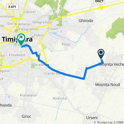 Strada Cindrel, Moșnița Veche to Bulevardul Vasile Pârvan 9, Timișoara