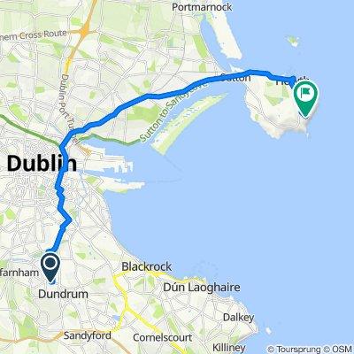 Thurleigh, Upper Churchtown Road, Dublin 14 to Howth - Black Linn Loop, Howth