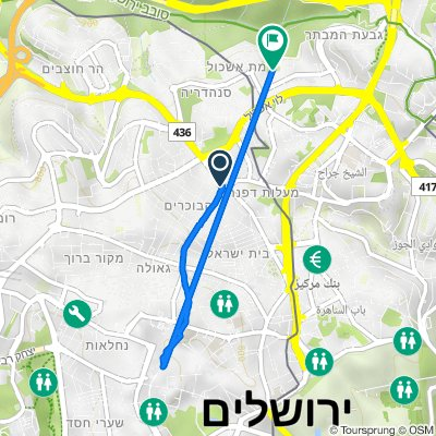 Route from Shmuel Hanavi Street 79, Jerusalem