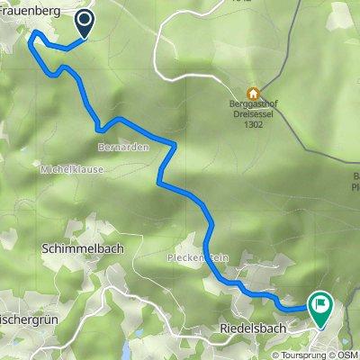 Route nach Lackenhäuser 146, Neureichenau