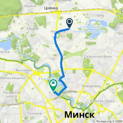 От улица Глубокская 21, Минск до Проспект Победителей 49, Минск