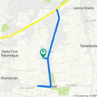 De Calle 221, Mérida a Calle 221, Mérida