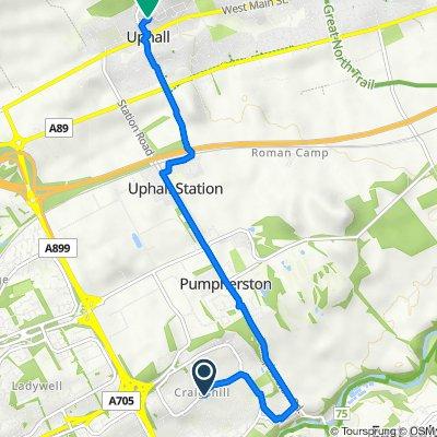 16 Adelaide St, Livingston to 59 Glebe Ave, Broxburn