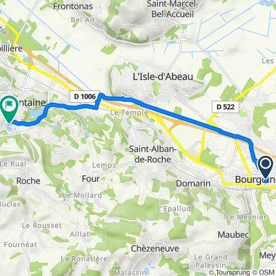 De 25B–25Bis Avenue du Maréchal Leclerc, Bourgoin-Jallieu à 4–8 Résidence Hameau de l'Étang, Villefontaine