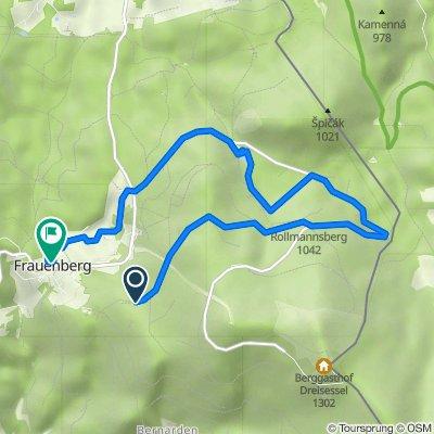 Route nach Frauenberg 26, Haidmühle